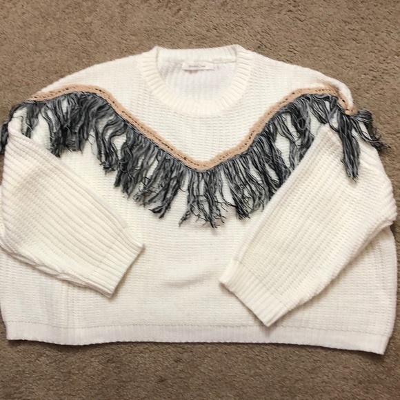 Fringe crop sweater from Shop Talulah